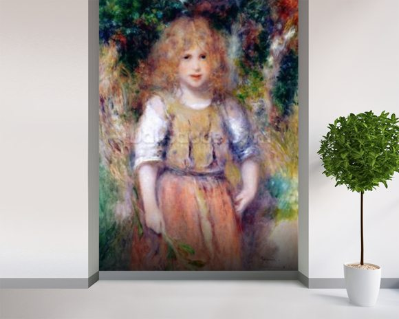 Gypsy Girl, 1879 wall mural room setting