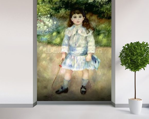 Child with a Whip, 1885 (oil on canvas) wallpaper mural room setting