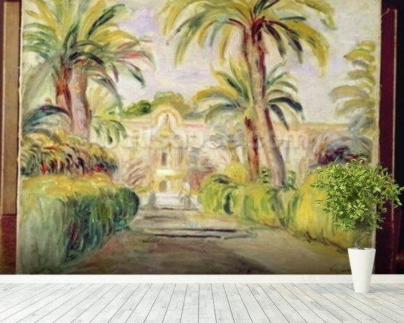 The Palm Trees, 1919 mural wallpaper room setting