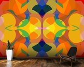 Funky mural wallpaper kitchen preview