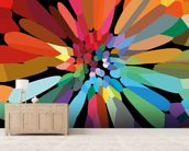 Flower wall mural living room preview