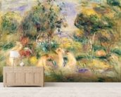 The Bathers wallpaper mural living room preview