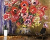 Vase of Tulips and Anemones, c.1895 mural wallpaper kitchen preview