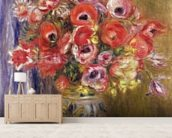 Vase of Tulips and Anemones, c.1895 mural wallpaper living room preview