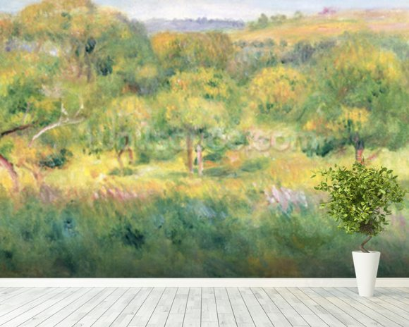 The edge of a forest in Brittany, 1893 wall mural room setting