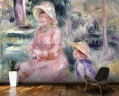 Madame Renoir and her son Pierre, 1890 wallpaper mural kitchen preview