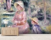 Madame Renoir and her son Pierre, 1890 wallpaper mural living room preview