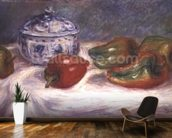 Still life with a sugar bowl and red peppers, c.1905 wallpaper mural kitchen preview