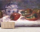 Still life with a sugar bowl and red peppers, c.1905 wallpaper mural living room preview