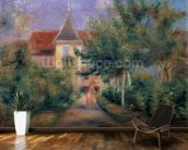 Renoirs house at Essoyes, 1906 (oil on canvas), mural wallpaper kitchen preview