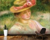 The Straw Hat, 1895 wall mural kitchen preview