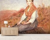 Woman with a bundle of firewood, c.1882 wallpaper mural living room preview