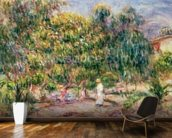 The woman in white in the garden of Les Colettes, 1915 wall mural kitchen preview