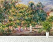 The woman in white in the garden of Les Colettes, 1915 wall mural in-room view