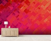 Purple and Orange mural wallpaper living room preview