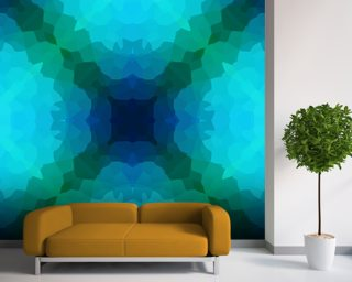 Shades of Blue and Green wall mural