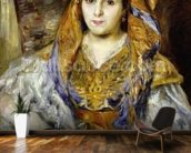Mme. Clementine Stora in Algerian Dress, or Algerian Woman, 1870 (oil on canvas) wall mural kitchen preview