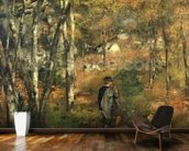Jules Le Coeur in the Forest of Fontainebleau, 1866 wallpaper mural kitchen preview