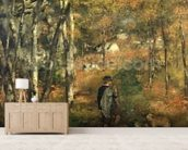 Jules Le Coeur in the Forest of Fontainebleau, 1866 wallpaper mural living room preview