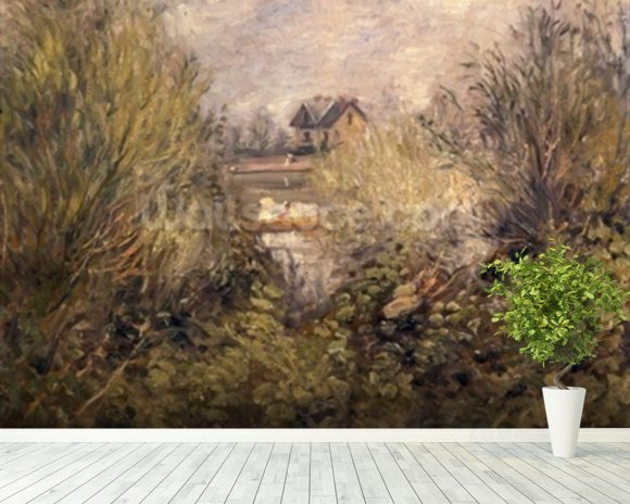 The Seine at Argenteuil, 1873 mural wallpaper room setting