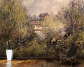 The Seine at Argenteuil, 1873 mural wallpaper kitchen preview
