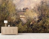 The Seine at Argenteuil, 1873 mural wallpaper living room preview