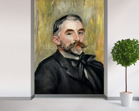 Portrait of Stephane Mallarme (1842-98) 1892 (oil on canvas) wallpaper mural room setting