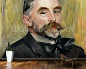 Portrait of Stephane Mallarme (1842-98) 1892 (oil on canvas) wallpaper mural kitchen preview