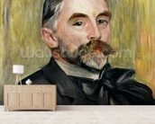 Portrait of Stephane Mallarme (1842-98) 1892 (oil on canvas) wallpaper mural living room preview