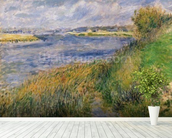 The Banks of the Seine, Champrosay, 1876 (oil on canvas) wall mural room setting