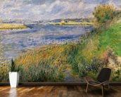 The Banks of the Seine, Champrosay, 1876 (oil on canvas) wall mural kitchen preview