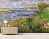 The Banks of the Seine, Champrosay, 1876 (oil on canvas) wall mural living room preview