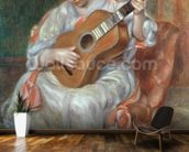 The Guitar Player, 1897 (oil on canvas) wallpaper mural kitchen preview