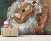 The Guitar Player, 1897 (oil on canvas) wallpaper mural living room preview