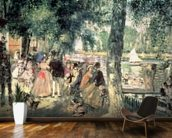 Bathing on the Seine or, La Grenouillere, c.1869 (oil on canvas) wall mural kitchen preview