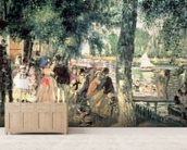 Bathing on the Seine or, La Grenouillere, c.1869 (oil on canvas) wall mural living room preview