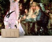 In the Garden, or Under the Trees of the Moulin de la Galette, 1875 (oil on canvas) wall mural living room preview