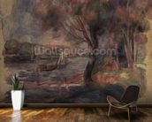 The Seine at Argenteuil, 1892 mural wallpaper kitchen preview