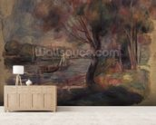The Seine at Argenteuil, 1892 mural wallpaper living room preview