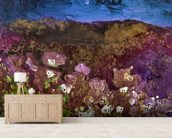 Painting of Landscape with Storm Clouds mural wallpaper living room preview