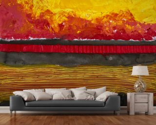 Painting of a Colourful Sunset Wall Mural Wallpaper Wall Murals Wallpaper