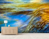 Vermont, Branford State Park, Autumn Trees mural wallpaper living room preview