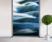 Vermont, Jamaica State Park, West River, Abstract mural wallpaper in-room view