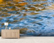 West River, Vermont - Colorful Abstract Of Flowing wall mural living room preview