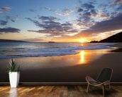 Maui Beach Sunset wallpaper mural kitchen preview