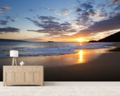 Maui Beach Sunset wallpaper mural living room preview