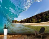 Hawaii, Makena Beach, Beautiful Wave Breaking Along Shore mural wallpaper kitchen preview