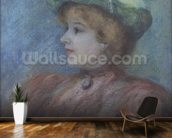 Portrait of Mademoiselle Dieterle (pastel on paper) wall mural kitchen preview