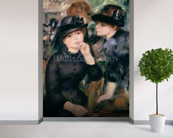 Girls in Black, 1881-82 (oil on canvas) wallpaper mural room setting