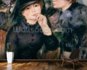 Girls in Black, 1881-82 (oil on canvas) wallpaper mural kitchen preview